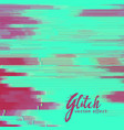 glitch background with duotone shade vector image vector image