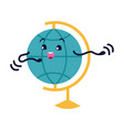 globe flat icon smiling earth character with vector image