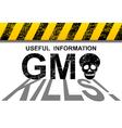 GMO kills vector image vector image
