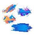 gradient geometric banners set - fluid color vector image vector image