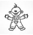 happy cartoon boy on white vector image