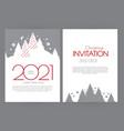happy new 2021 year flyer design template elegant vector image