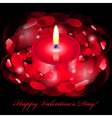 Happy Valentines Day card with red candle vector image vector image