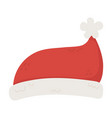 hat santa with pompon celebration merry vector image