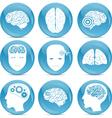 human brain icons vector image vector image