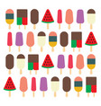 ice cream collection flat icons vector image