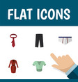 icon flat dress set of trousers underwear tie vector image