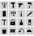 icons set repear gray square signs the concept vector image