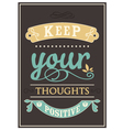Inspirational poster vector image vector image