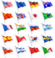 international flags set vector image vector image