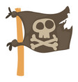 jolly roger icon cartoon style vector image vector image