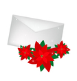 Lovely Red Poinsettia Flowers with A Letter vector image vector image