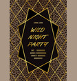 luxury wild party invitation card with leopard vector image vector image