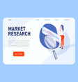 marketing research analytics report vector image vector image