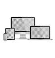 mockup computer monitor laptop tablet phone vector image