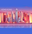 modern metropolis cartoon background vector image vector image