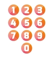Number set circle vector image