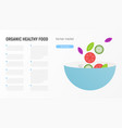 organic healthy food vector image vector image
