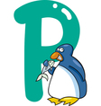 P for penguin vector image vector image