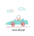 race driver vector image vector image
