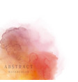 red orange abstract watercolor background vector image vector image