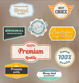 retro label collection vector image vector image