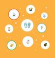 set of season icons flat style symbols with turtle vector image