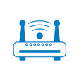 silhouette router wifi connection network vector image vector image