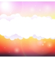 Sky clouds and sun with rays vector image