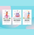 smart house vertical banners vector image vector image