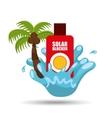 solar blocker water splash palm summer vacation vector image