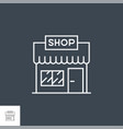 store line icon vector image vector image
