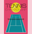 tennis typographical vintage style poster vector image