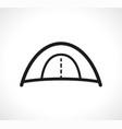 tent symbol icon design vector image