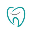 tooth abstract logo vector image vector image