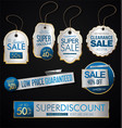 vintage style golden sale tags design collection vector image vector image