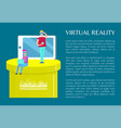 virtual reality banner visualization of technology vector image vector image