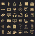 web site icons set simple style vector image vector image