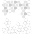 white gray abstract technology shape background vector image vector image