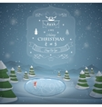 Winter Christmas landscape vector image vector image