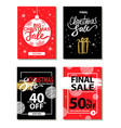 winter sale on everything on vector image vector image