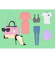 woman clothing set vector image vector image