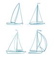 yachts symbols vector image vector image