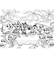 Funny animals in the jungle vector image