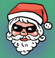 hipster santa claus fashion with cool beard vector image