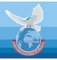 International day of Peace White dove vector image