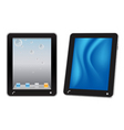 touchscreen tablet computer vector image