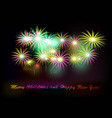 postcard happy new year 2018 vector image