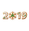 2019 gingerbread vector image