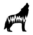 a wolf vector image vector image